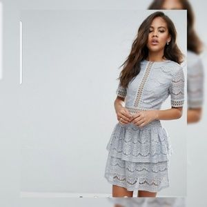 Missguided (Ice Grey lace dress)
